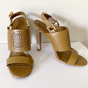 Tory Burch Gabriela Perforated Heeled Sandals 7